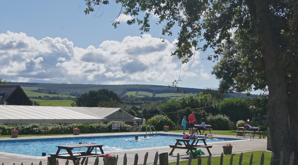Outdoor Pool at Orchards Holiday Park