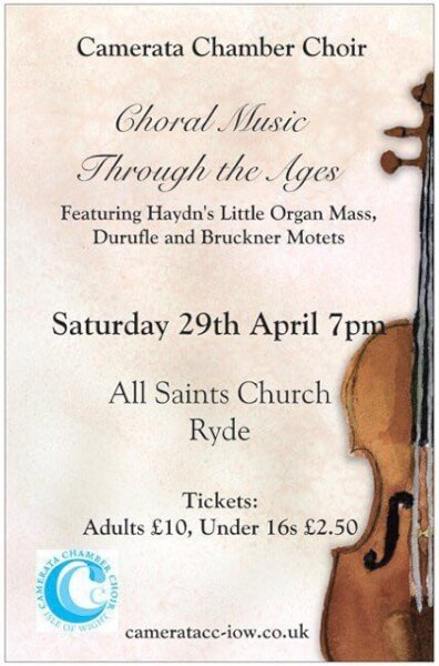 Camerata Chamber Choir Isle of Wight Events