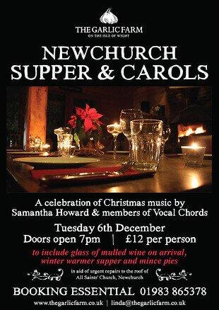 newchurch-supper-carol-singing-iow isle of wight