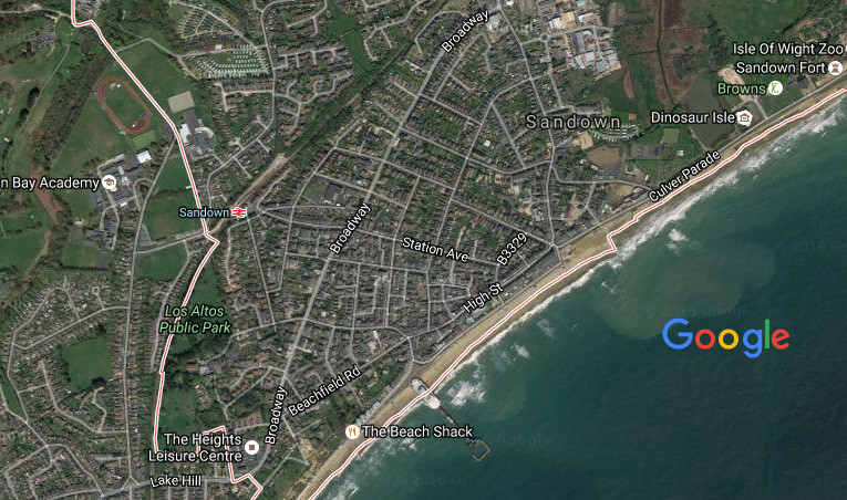 Sandown isle of wight Cycle Route