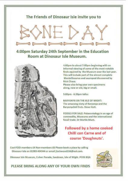 Dinosaur bone day at Sandown on the Isle of Wight