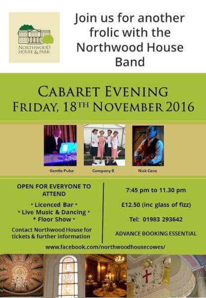 cabaret-evening-at-northwood-house Isle of Wight