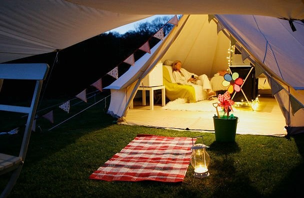 Carry on Glamping on the Isle of Wight