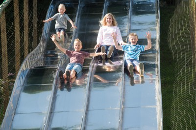 Dare to glide on the slide!