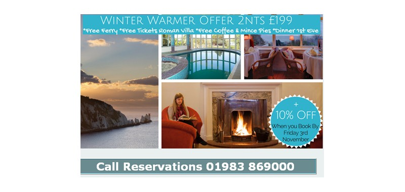 WINTER WARMER OFFER – BOOK TODAY – LAST CHANCE 10% off and FREE CAR FERRY – CHOICE OF THREE HOTELS