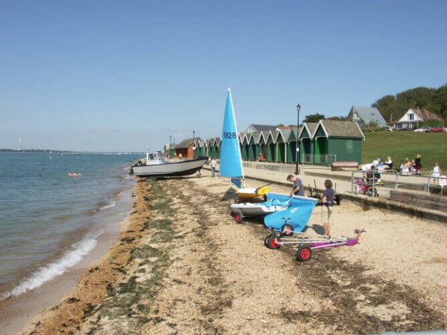 Gurnard Beach, Cowes, Isle of Wight
