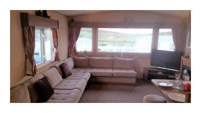 Lounge, 10 Crosswinds, Whitecliff Bay Holiday Park