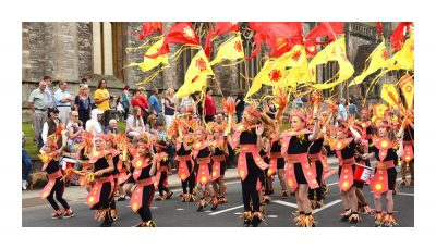 Newport Carnival - photo by Isle of Wight County Press