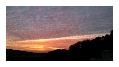 Sunset, 10 Crosswinds, Whitecliff Bay Holiday Park