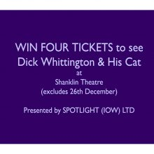 WIN FOUR TICKETS to see DICK WHITTINGTON & HIS CAT at Shanklin Theatre