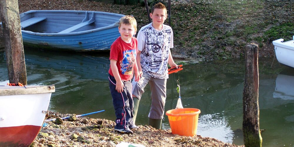 Crabbing on the Isle of Wight is great fun and one of the things to do.