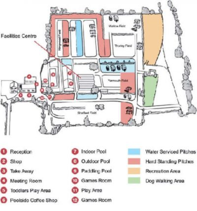 Orchards park map of touring field
