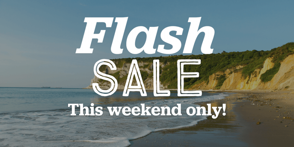 Flash Sale at Whitecliff Bay Holiday Park