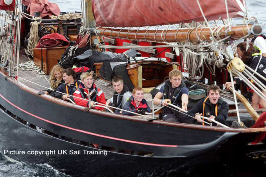 cowes small race sail Isle of Wight Picture copyright UK Sail Training