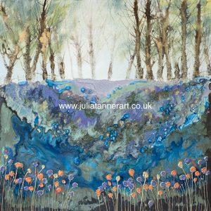 Bluebells at Mottistone Woods - original painting