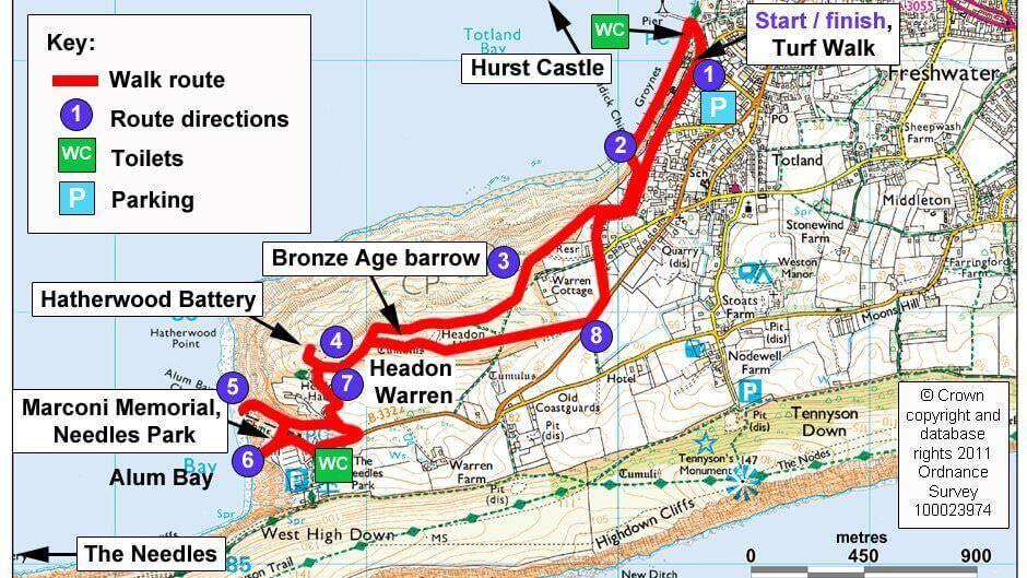 Headon Warren Isle of Wight  425 miles  Isle of Wight for
