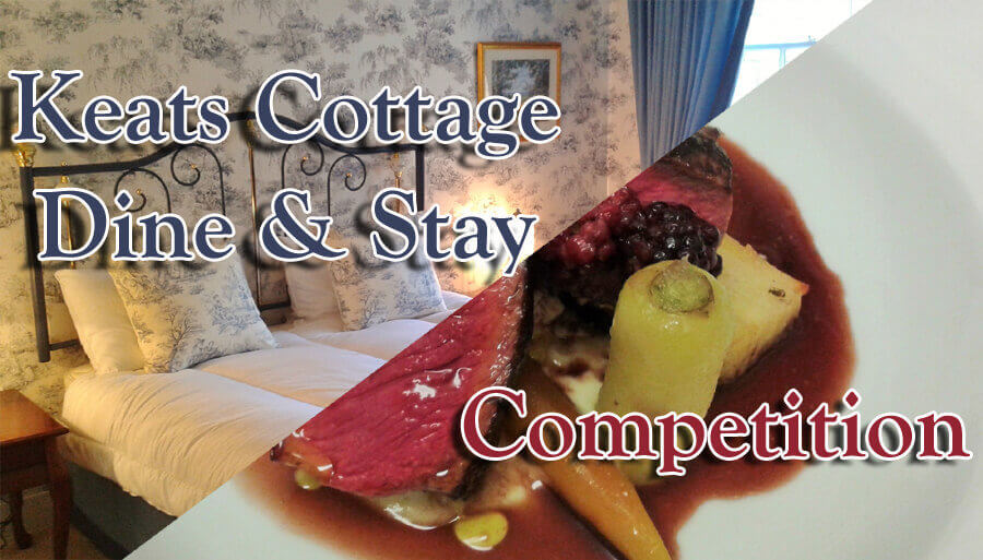 Keats cottage Dine and Stay Competition