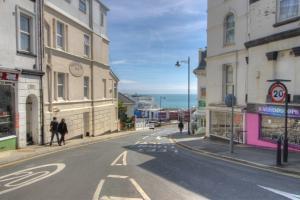 Looking down Pier Street